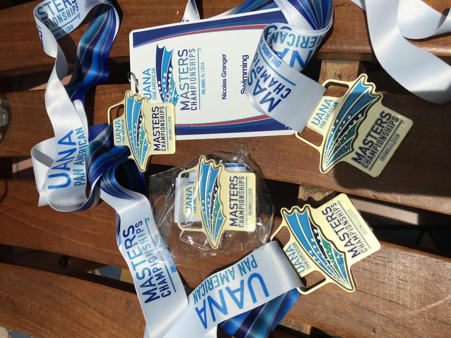 Médailles championnat PAN AM!